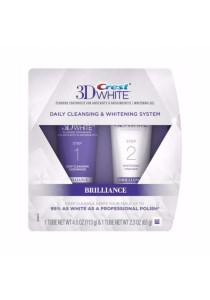 Crest 3D White Brilliance Daily Cleansing Toothpaste and Whitening Gel