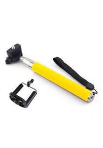 Monopod Cable Take Pole Selfie Stick Z07-5S 3.5mm Jack Shutter - Yellow