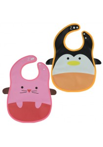 PVC Baby Bib (Wipe-clean Quality) - BB04 (Mouse-Penguin)