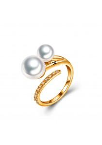 Arche Lavish Dual Pearl Adjustable Ring ARJW-RHMR-10779-GD