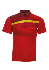 Dye Sublimation Polo T Shirt MSP 16 (Red)