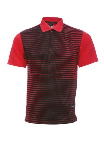 Dye Sublimation Polo T Shirt MSP 28 (Red/Black)