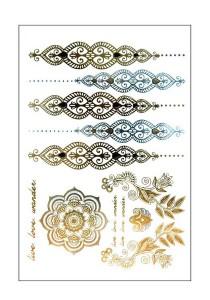 Henna Metallic Temporary Tattoos