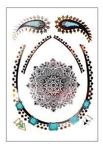 Bejewel Metallic Temporary Tattoos