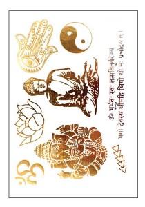 Yin & Yang Metallic Temporary Tattoos