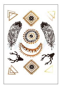 Baja Metallic Temporary Tattoos