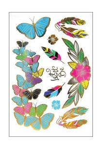 Butterfly Metallic Temporary Tattoos