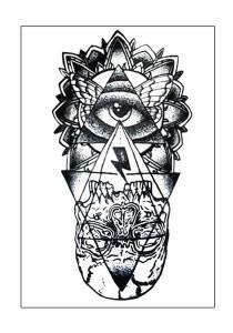 Illuminati Temporary Tattoos