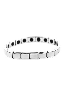 High Concentration Magnetic Anion-Germanium FIR Stainless Steel Health Bracelet - Single