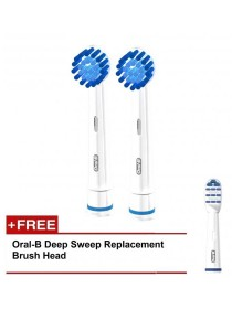 Braun Oral-B Electronic Toothbrush Brush Head Replacement (Precision Clean Soft) 2+1
