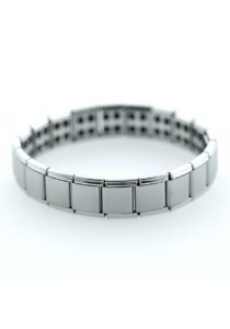 Stainless Steel Anion Energy Enhancing Bracelet with Multi-High Density Magnetic Beads