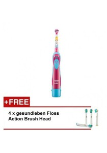 Braun Electronic Toothbrush for Kids (Retail) with Timer and 4x Floss Action