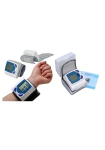Exclusive Digital Wrist Blood Pressure Monitor & Heart Beat Meter with Safe Keeping Hard Cover Enclosure