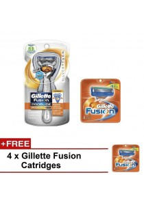 Super Value: Gillette Fusion ProGlide Razor Kit with 9 Replacement Cartridges (Blue)