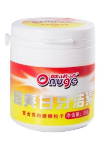 Onuge Triple Action Tooth Whitening Powder with Anti Germ Formula