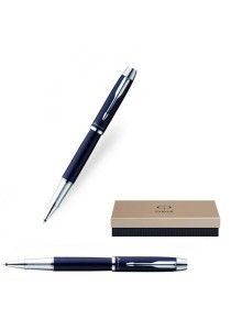Parker IM Collection Roller Ballpoint Pen (Laque Blue Silver)