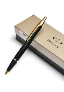 Parker Writing Instrument since 1888 IM Collection All-Metallic Ballpoint Pen (Laque Black Gold)