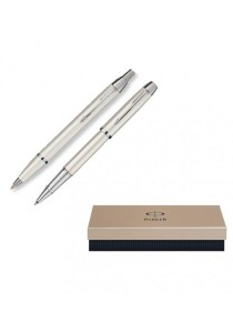 Limited Edition Parker IM Collection Roller Ballpoint Pen (Pearl White) Gift Set