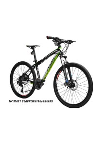 "26"" XDS MX7.5 Matt Black (White/Green)(30 Speed) Deore Size SM (16"")"
