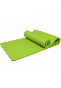 Yoga Mat 10mm/ 80x183cm Extra Wide/Anti-slip/impact Cushioned/free Strap - Green