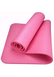 Yoga Mat 10mm/ 80x183cm Extra Wide/Anti-slip/impact Cushioned/free Strap - Pink