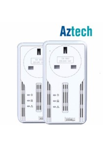 AZTECH HL113EP HomePlug Ethernet Adapter (2 units)