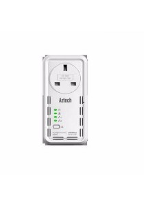 AZTECH HomePlug HL129EP AV 1200Mbps Ethernet Adaptor with AC Pass Through