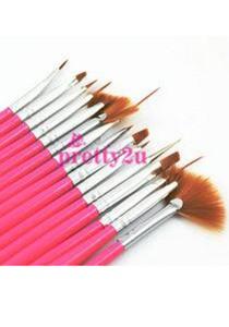 Nail Art Brush Set 15 pieces