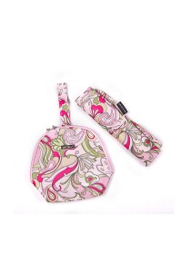 Gin & Jacqie Nathalie Lunch Pouch & Changing Mat Set Floral Pink G146FP