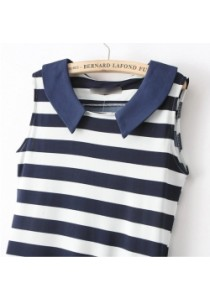 Nautical Striped Dress with Pockets