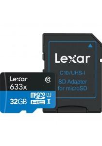 Lexar High-Performance 633x 32GB 95MB/s MicroSDHC UHS-I/U1 w/USB 3.0 Memory Card Best for GoPro Camera