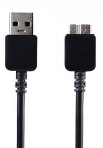 Data USB 3.0 Cable Compatible for Samsung Galaxy Note 3 / S5 - Black