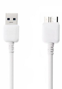 Data USB 3.0 Cable Compatible for Samsung Galaxy Note 3 / S5  - White