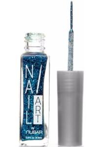 Nubar Nail Striper Art Pen - Disco Blue Glitter (8.8ml)