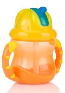 Nuby No-Spill Flip n' Slip Combo 8oz 7010020 Orange