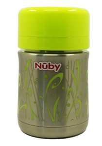 Nuby Stainless Steel Vacuum Insulated Food Jar with Spoon Green 05470