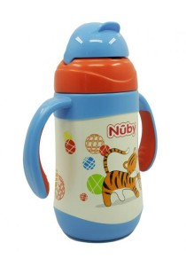 Nuby SS Click-It Flip-It Twin Handle 280ml 10223 Tiger
