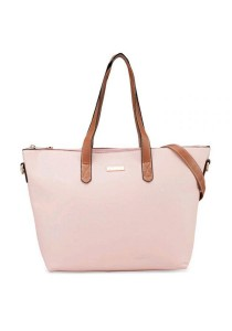 Unisa Duo-Tone Convertible Simple Tote Bag (Pink)