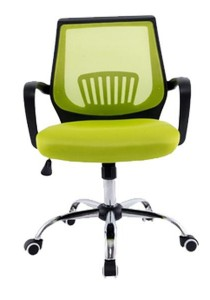 Modern Office Chair with Lumbar Support (Green)