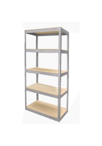 Idea Adjustable 5-Shelf Medium Duty Shelving Unit with HDF Board