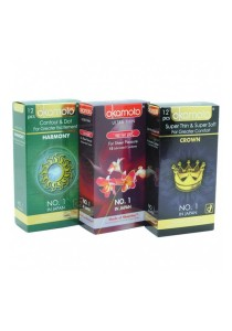 Japan Okamoto 3-in-1 Condom Pack 36 pcs