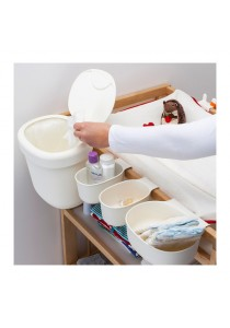 Baby Cot Hang Basket / Dustbin 4 Set (White)