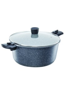 Chefology Stove to Oven Marble 28cm Casserole with Lid