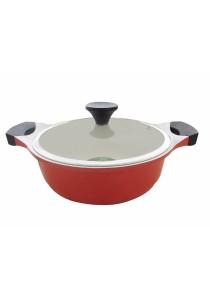 Lock & Lock Cookplus Ceramic 24cm Low Stock Pot (Casserole)