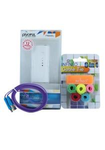 Pivoful PB22C 2200mAh + Smile iPhone USB + Cable Tie