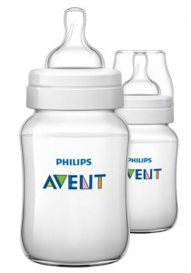 Twin Pack Philips AVENT Classic Plus Anti Colic 1m 260ml SCF563/27