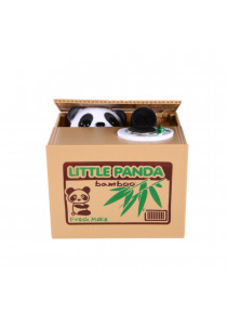 Cute Steal Coin Panda Bank Money Bank Money Saving Box Toy Gift