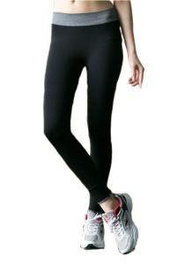 FASHION TEE Women Yoga Sport Elastic Fitness Running Trousers Slim Leggings Pants (Grey)
