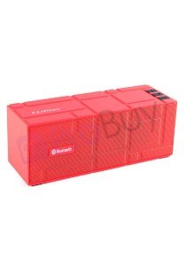 CLiPtec PBS353 COLOR-Beat Portable Bluetooth Speaker - Red