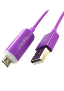 Pivoful Firefly Micro USB Luminous Data Cable (Purple)